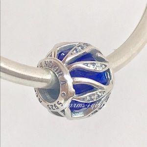 Authentic Pandora nature's radiance royal blue